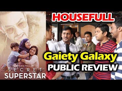 Secret Superstar Public Review   Gaiety Galaxy - HOUSEFULL Theatre   Aamir Khan, Zaira Wasim