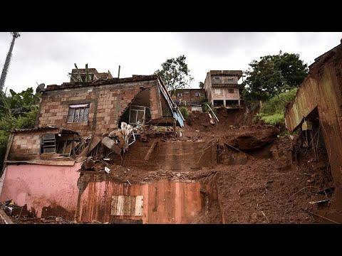 شاهد: آثار الفيضانات والانزلاقات الأرضية جنوب شرقي البرازيل…  - نشر قبل 1 ساعة