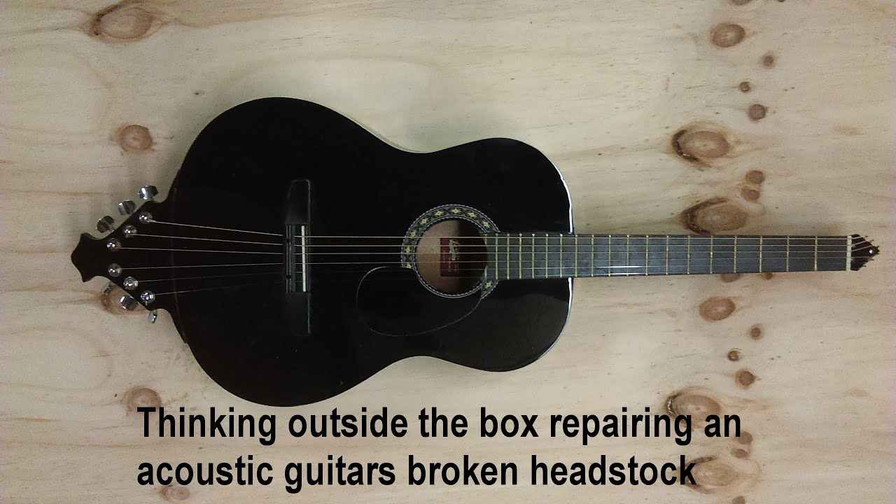 Thinking Outside The Box Repairing An Acoustic Guitars Broken Headstock Headless Guitar