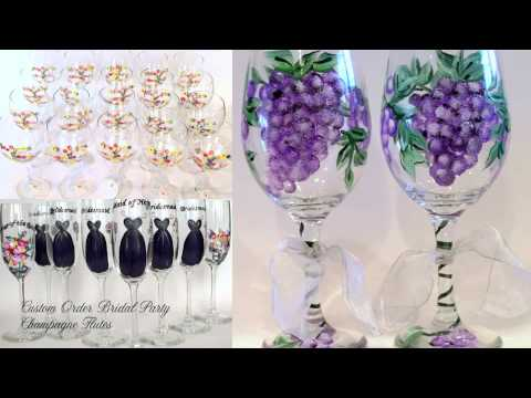 Hand Painted Glassware by Brushes with a View