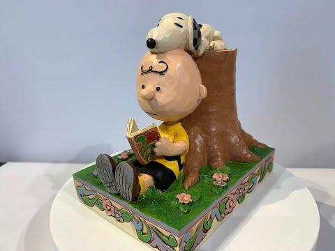 【スヌーピー】ジムショアー ピーナッツ作品紹介「Chalie Brown & Snoopy reading」