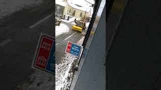 Salt Lorry clearing Snow