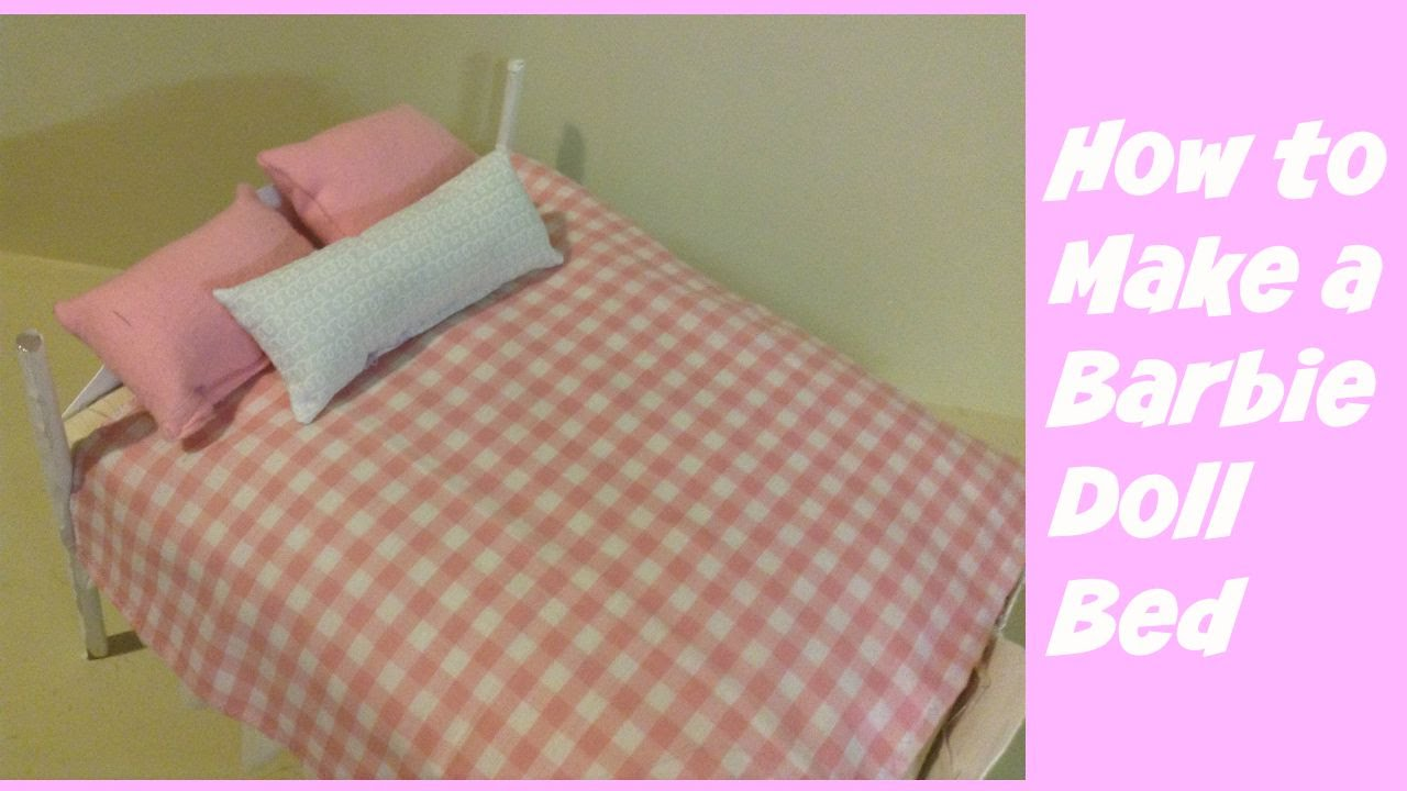 How To Make A Barbie Doll Bed Youtube