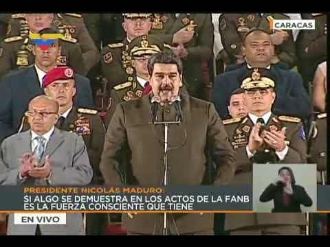 Maduro agradece a FANB haber cumplido órdenes sobre grupos terroristas como el de Oscar Pérez