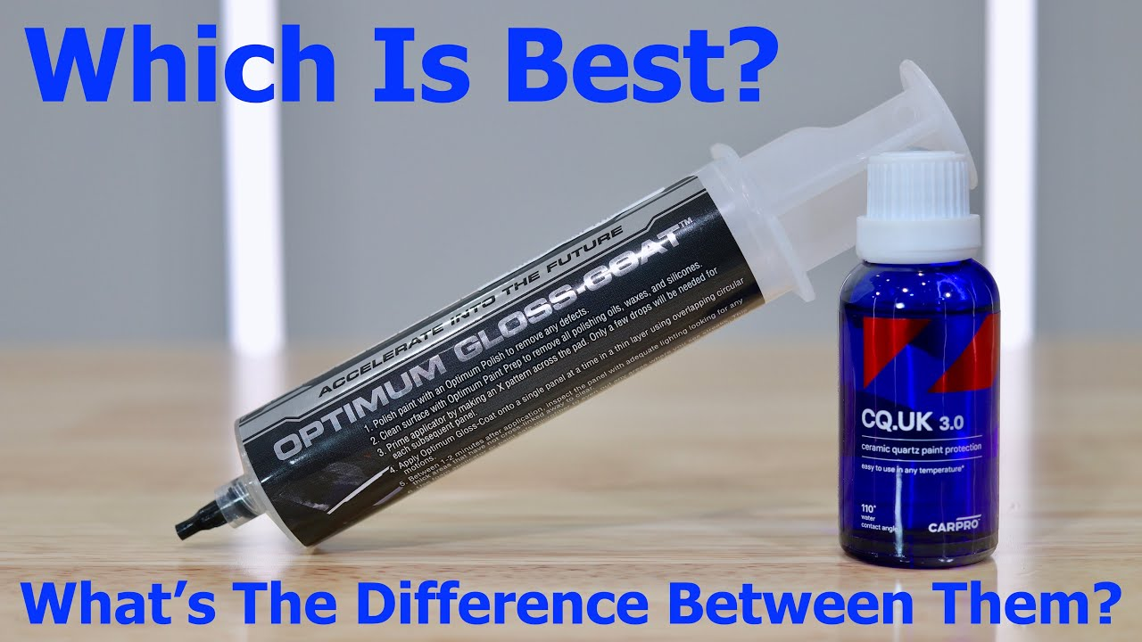 Optimum Gloss Coat vs CarPro Cquartz UK 3.0 Ceramic Coatings!