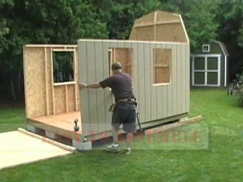 Shed In A Day Barn Shed Assembly Youtube