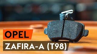 Cum se înlocuiește placute frana din spate OPEL ZAFIRA-A (T98) [TUTORIAL AUTODOC]