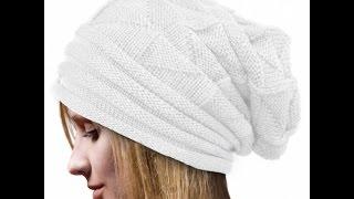 Женская Зимняя шапка Вязанная крючком