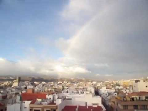 arco iris sobre las palmas de gran canaria youtube. Black Bedroom Furniture Sets. Home Design Ideas