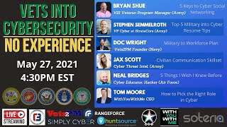 Vets into Cybersecurity with No Experience!