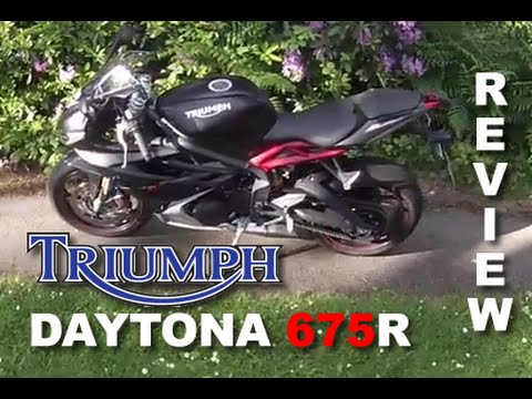 2016 Triumph Daytona 675R  - Full review, fast ride and walkaround.