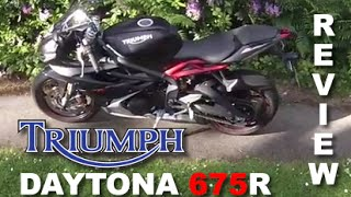 2015 Triumph Daytona 675R  - Full review, fast ride and walkaround.