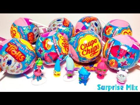 ТРОЛЛИ Мультик 2016 TROLLS movie - Чупа Чупс СЮРПРИЗЫ Игрушки  TROLLS toys SURPRISES Unboxing