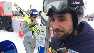 Jason Lamy-Chappuis 34e dans l'épreuve du saut en Combiné nordique à Chaux-Neuve