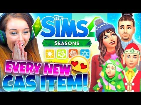 ?☀️?❄️THE SIMS 4 SEASONS - *ALL* NEW CAS ITEMS!?☀️?❄️ thumbnail