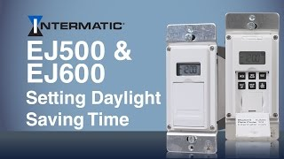 setting daylight saving time ej500 ej600 programmable timer