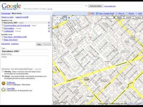 Egen Karta I Google Maps Youtube