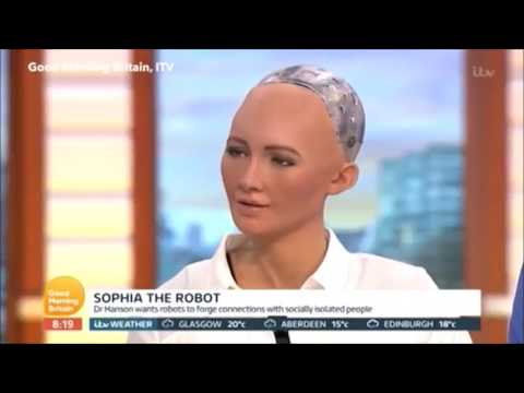 SOPHIA INTERVIEWED BY PIERS MORGAN   FUTURE A.I SEX ROBOT