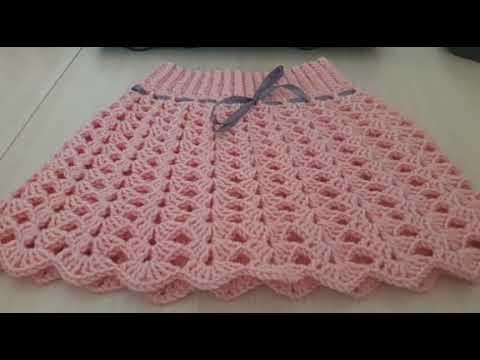 Вязание крючком детская юбка для начинающих видео