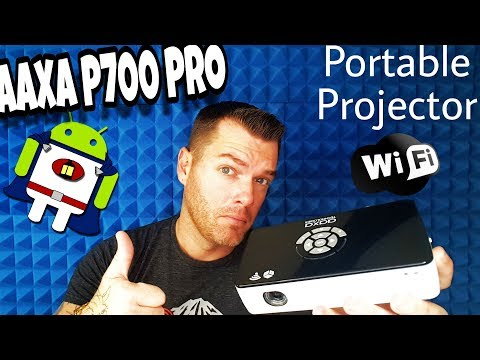 Best New Portable Projector 2017 | Wifi + Bluetooth Pocket Projector | Aaxa P700 Pro Review