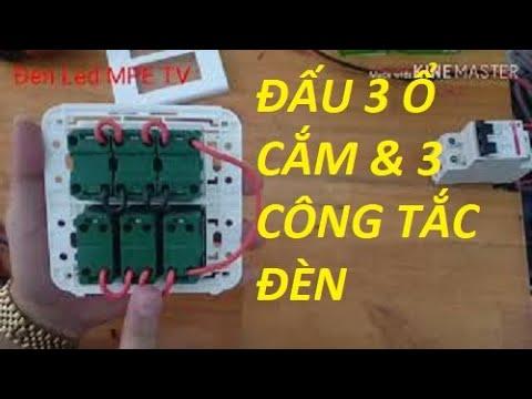 Lắp đặt 3 Công Tắc Và 3 ổ Cắm đơn Panasonic | Đại Lý Thiết Bị điện Panasonic TPhcm | Đèn Led MPE TV