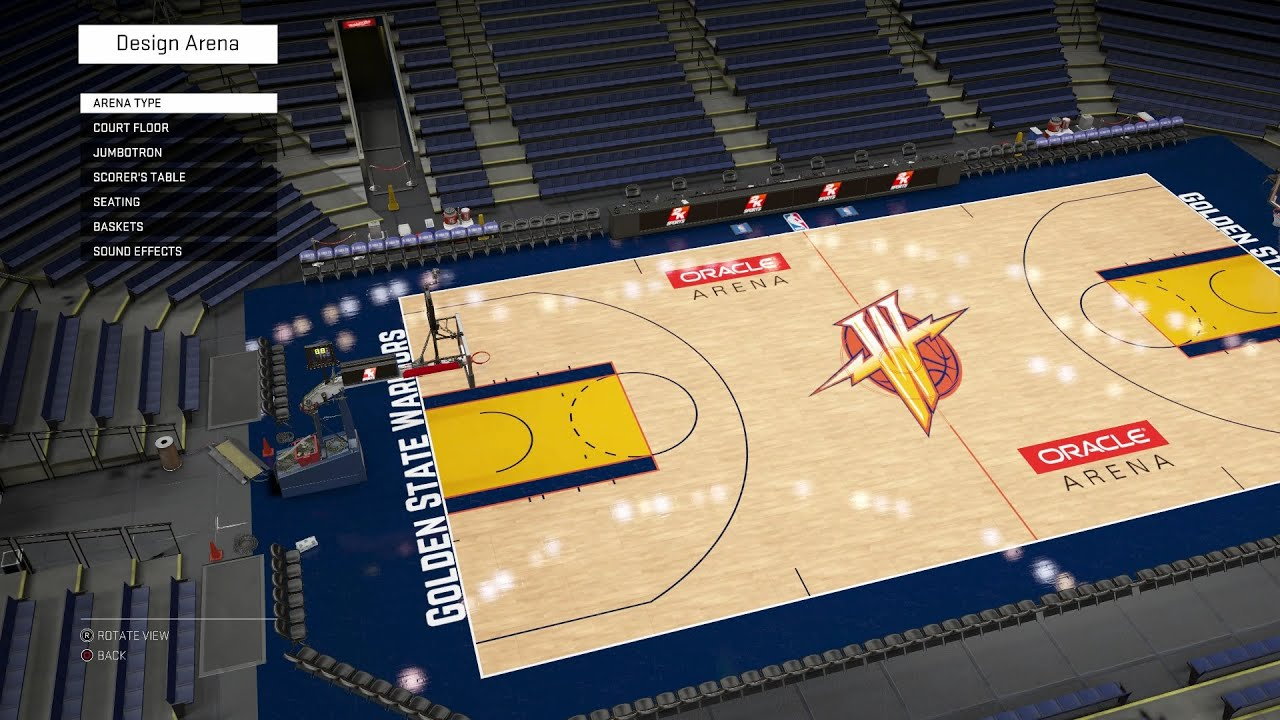 State warriors oracle arena and oakland alameda county coliseum - Nba 2k16 Arena Creation Golden State Warriors 2006 2010 Oracle Arena