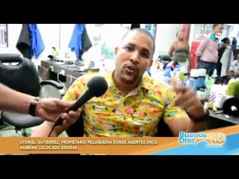 Dueño de barbería de Villa Vasquez dice por que agentes de DNCD le pusieron la drogas