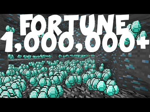 MINECRAFT 1.8 - ENCHANTED DIAMOND PICKAXE FORTUNE 1 MILLION!! (CRAZIEST MOD EVER)