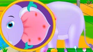 Видео Игра для детей Изучаем и помогаем разным Животным Игровой  мультик