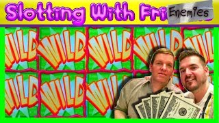 """UNBELIEVABLE LUCK!!! Brent Joins SDGuy For Some """"Slotting With FRIENEMIES""""! Ep. 1 💰 SDguy1234"""