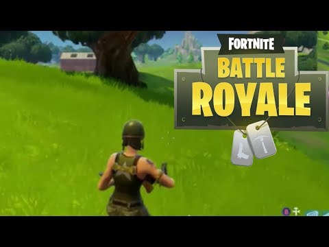 My First Solo Match!(Fortnite: Battle Royale)