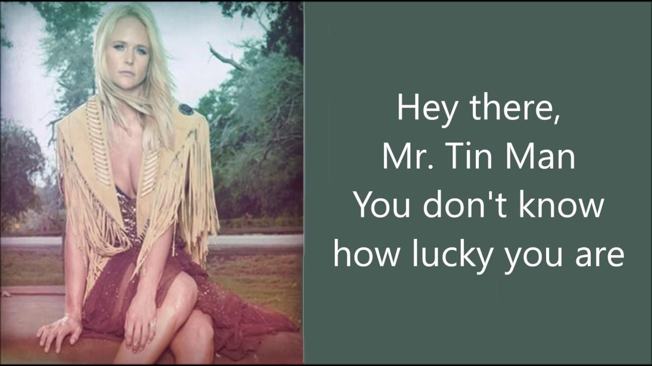 Tin man miranda lambert youtube for Words to tin man by miranda lambert