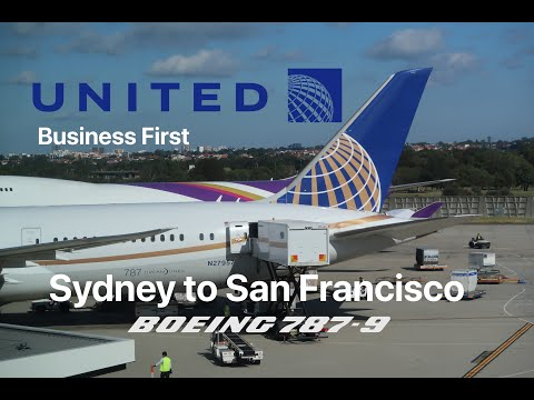 Business First From Sydney To San Francisco On United UA 870 Boeing 787-9