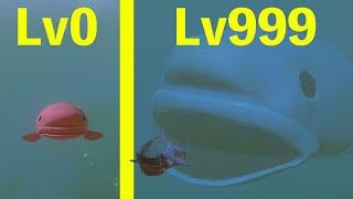 世界一醜い魚を巨大化させたらサメを一撃で倒すほど最強になった!! サメの海で弱…