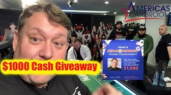 $1000 Cash Giveaway + My Trip to Americas Card Room Costa Rica Cage Poker Event Rene Nezhoda