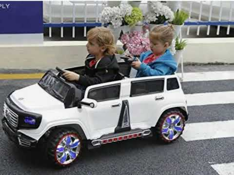 Two Seater 4 Door Premium Ride On Electric Toy Car For Kids 12v10a Led Lights Mp3 Rc Paa