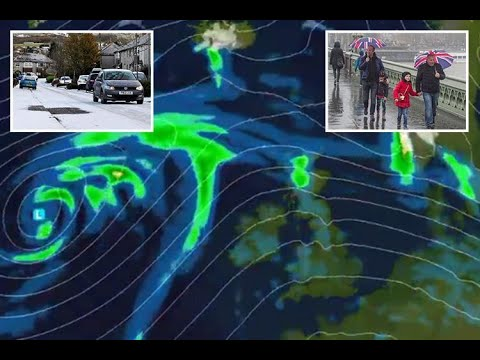 Storm Caroline to hit Britain on Thursday bringing 80mph gales before -6C big freeze returns with tw