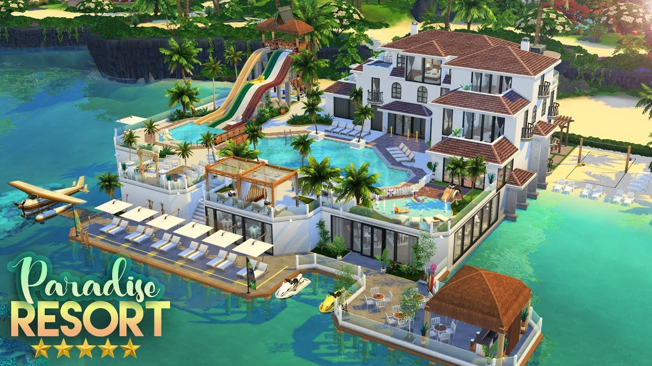 PARADISE RESORT 5* HOTEL, SPA & WATERPARK | The Sims 4: Speed Build