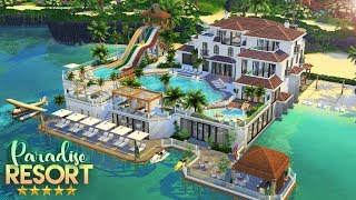 PARADISE RESORT 5* HOTEL, SPA \u0026 WATERPARK | The Sims 4: Speed Build