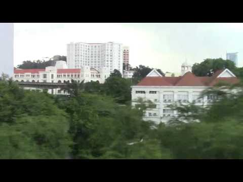 From KL Sentral to Imbi by Monorail Kuala Lumpur Malaysia