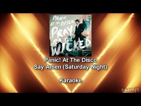 Panic! At The Disco - Say Amen (Saturday Night) (Karaoke) [DIY]
