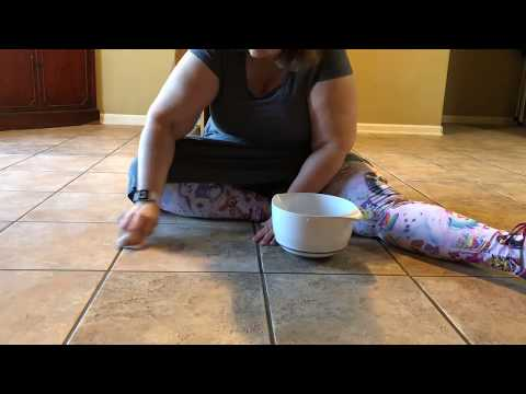 Cleaning Tile with Mr. Clean Magic Eraser