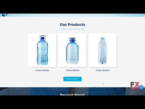 Water Delivery Service Moto CMS 3 Template TMT | Free Download Demo S