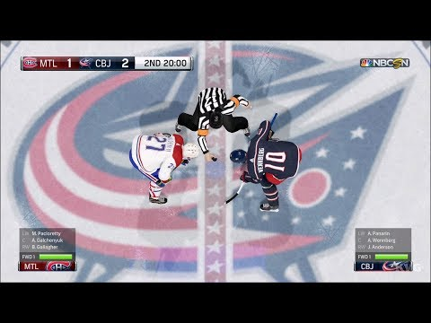 NHL 18 - Columbus Blue Jackets vs Montreal Canadiens - Gameplay (HD) [1080p60FPS]