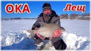 ОКСКИЙ ЛЕЩ не лезет в лунку Зимняя рыбалка в феврале 2021