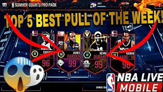 Top 5 Best Pulls in NBA LIVE MOBILE! TWO 99 OVR PULLS! #22