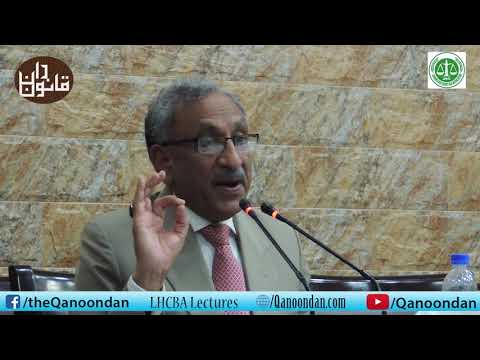 Justice (R) Kazim Ali Malik addresses Lawyers at Karachi Shuhada Hall, Lahore High Court