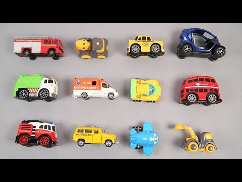 Learn Street Vehicles For Kids Children Babies Toddlers With London School Bus Taxi Ambulance Trucks