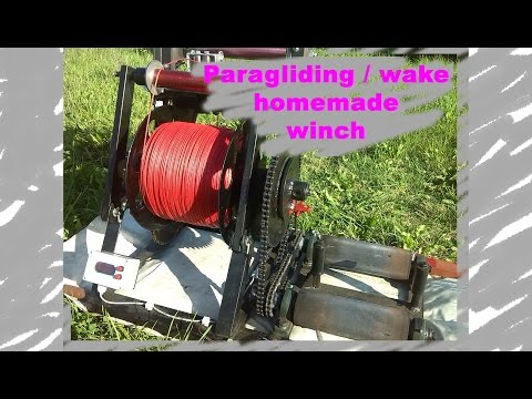 Paragliding / Wake homemade winch