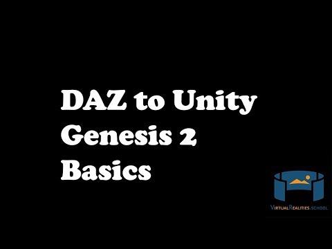 DAZ to Unity 1 - Genesis2 Basics